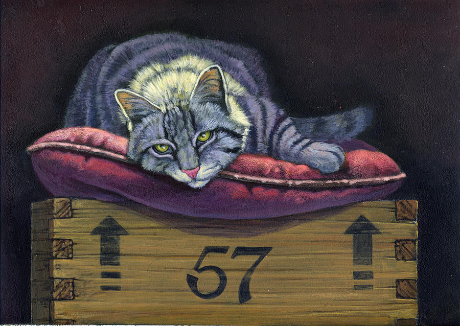 Cats Up Painting By Gene Dieckhoner