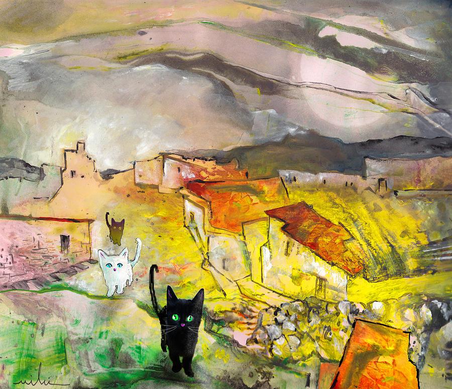 Animals Painting - Catwalk by Miki De Goodaboom