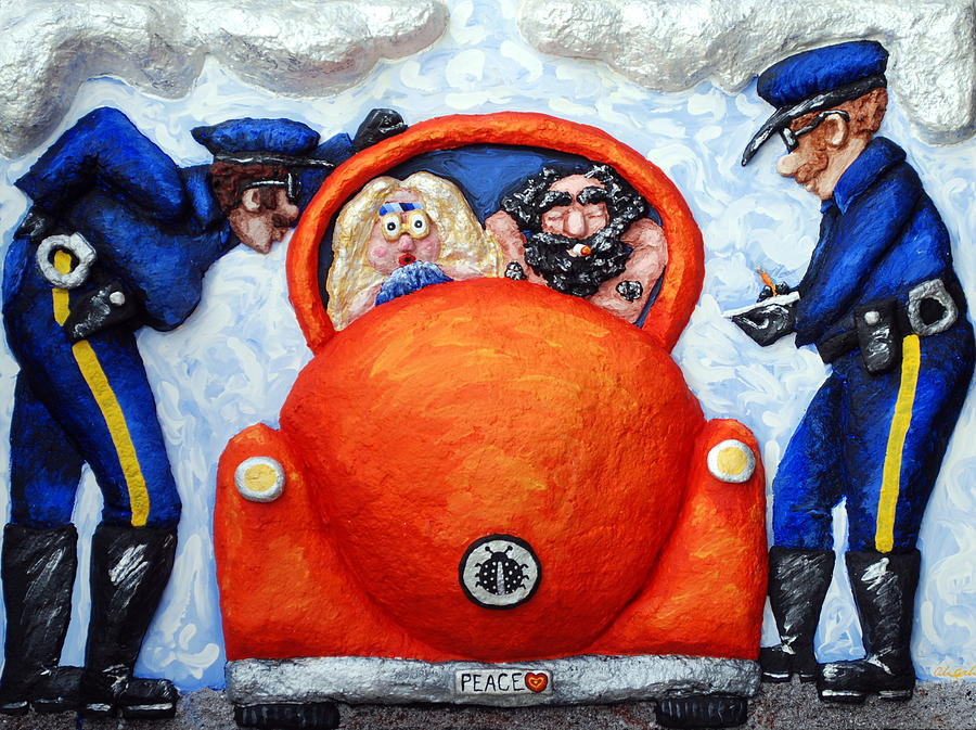 Police Painting - Caught by Alison  Galvan