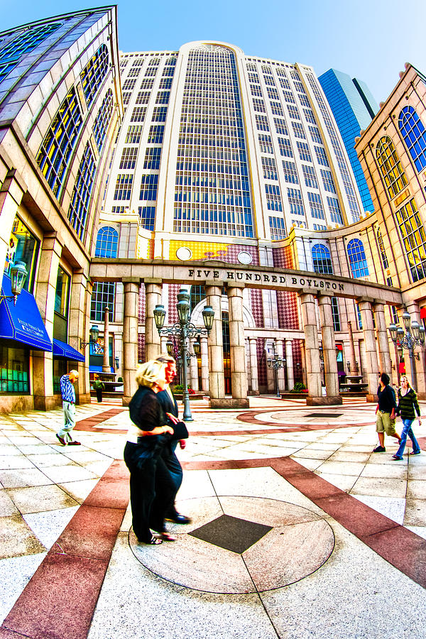 Boston Photograph - Caught In The Geometry Of Boylston Street by Mark E Tisdale