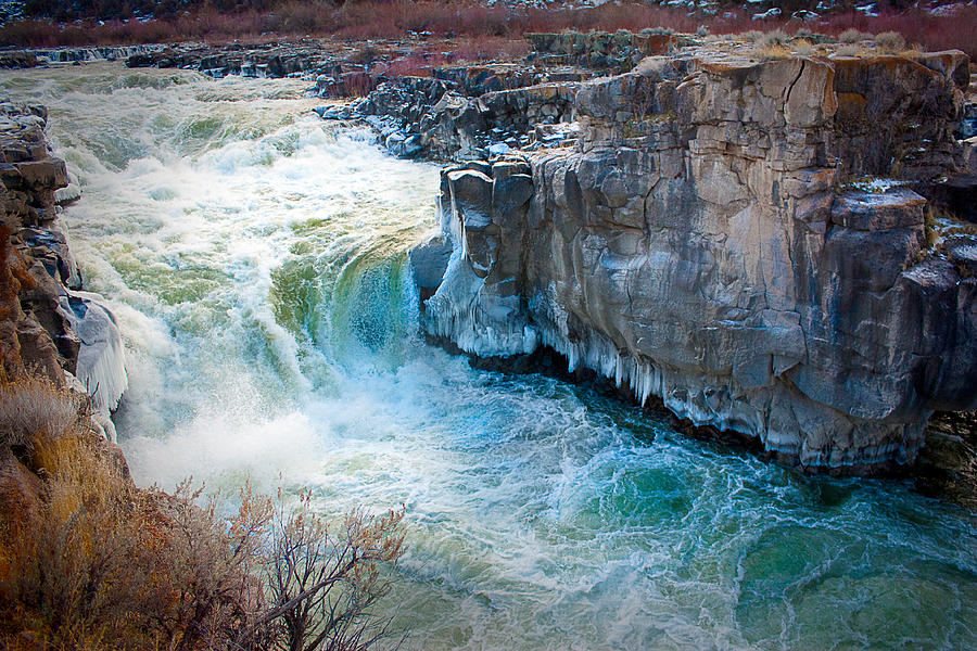 Snake River Photograph - Cauldron Linn In Winter by Rick Otto