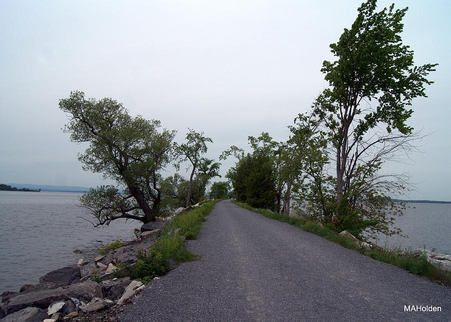 Causeway Photograph - Causeway Between Mills Point And South Hero Vermont by Mark Holden