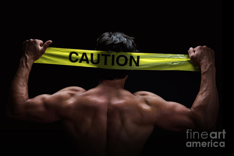 Abs Photograph - Caution by Jane Rix