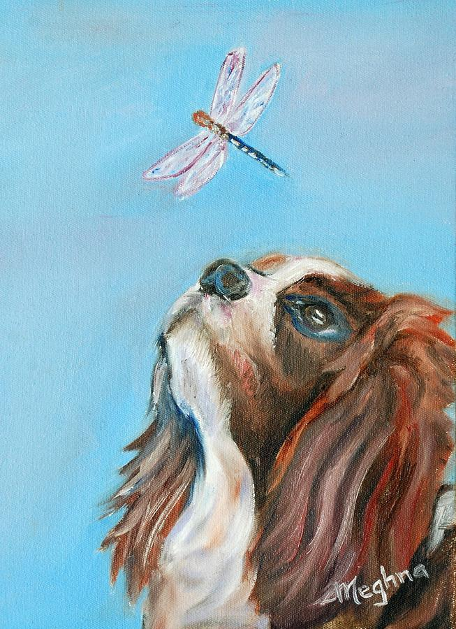 Dog Painting - Cavalier King Charles Spaniel by Meghna Suvarna