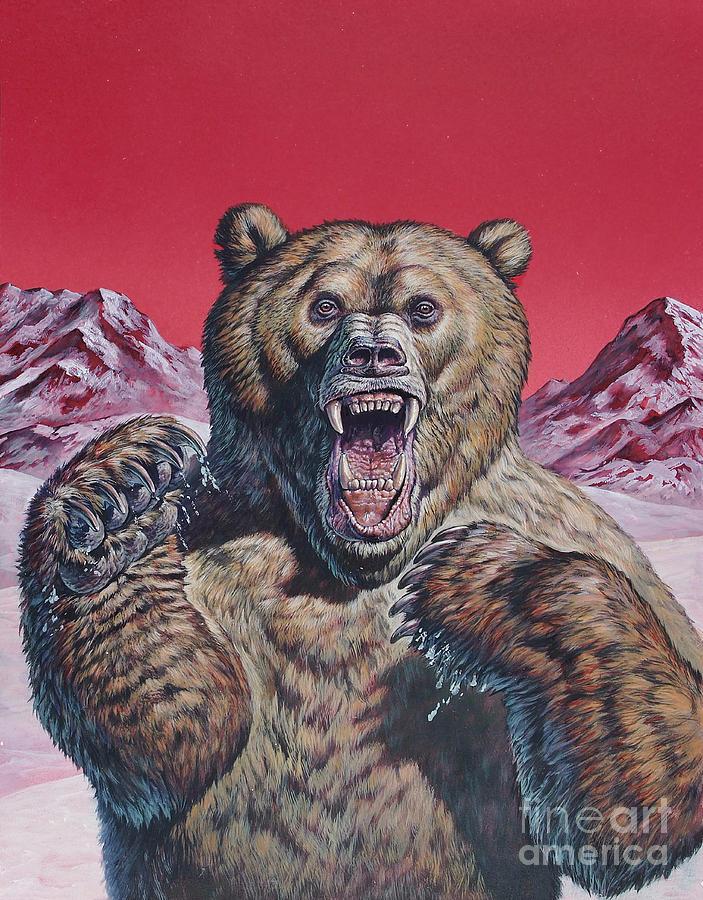 Cave Bear Ursus Spelaeus, Pleistocene Digital Art