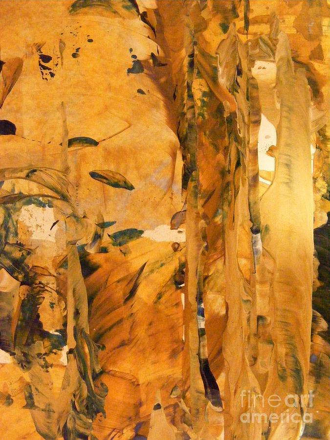 Acrylic Painting Painting - Cave Of Gold by Nancy Kane Chapman