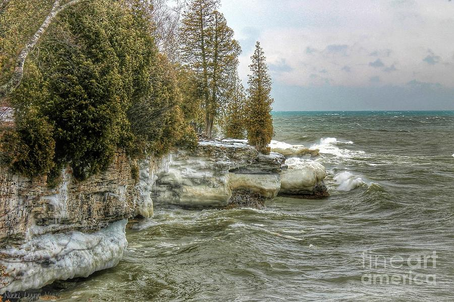 Wisconsin Photograph - Cave Point Door County by Nikki Vig