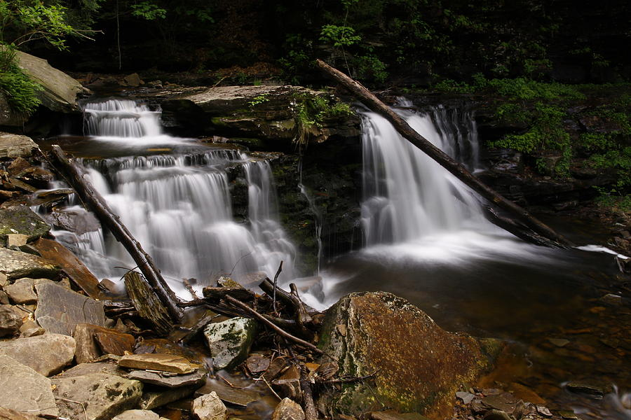 Blur Photograph - Cayuga Waterfalls by David Simons