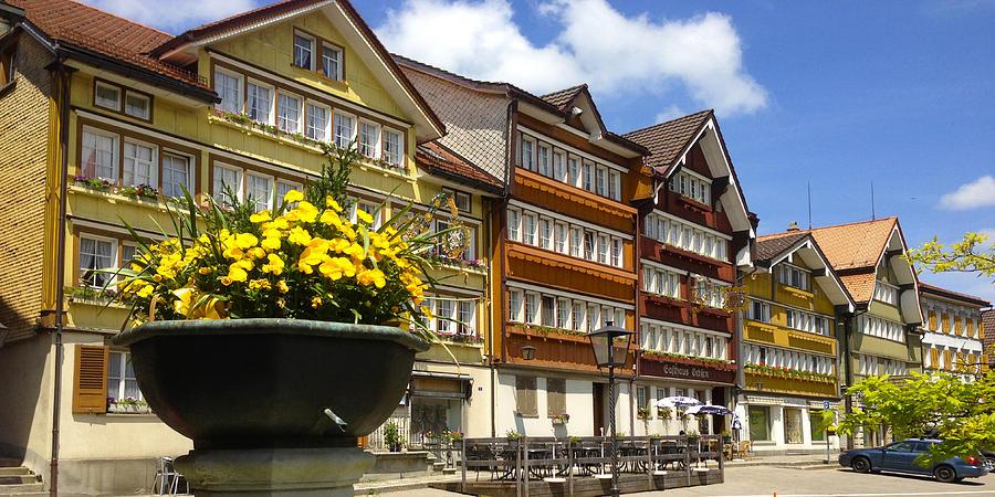 Urnaesch Photograph - Ccolourful Traditional Appenzeller Homes Urnaesch Canton Appenzell Outer Rhodes Switzerland by PIXELS  XPOSED Ralph A Ledergerber Photography