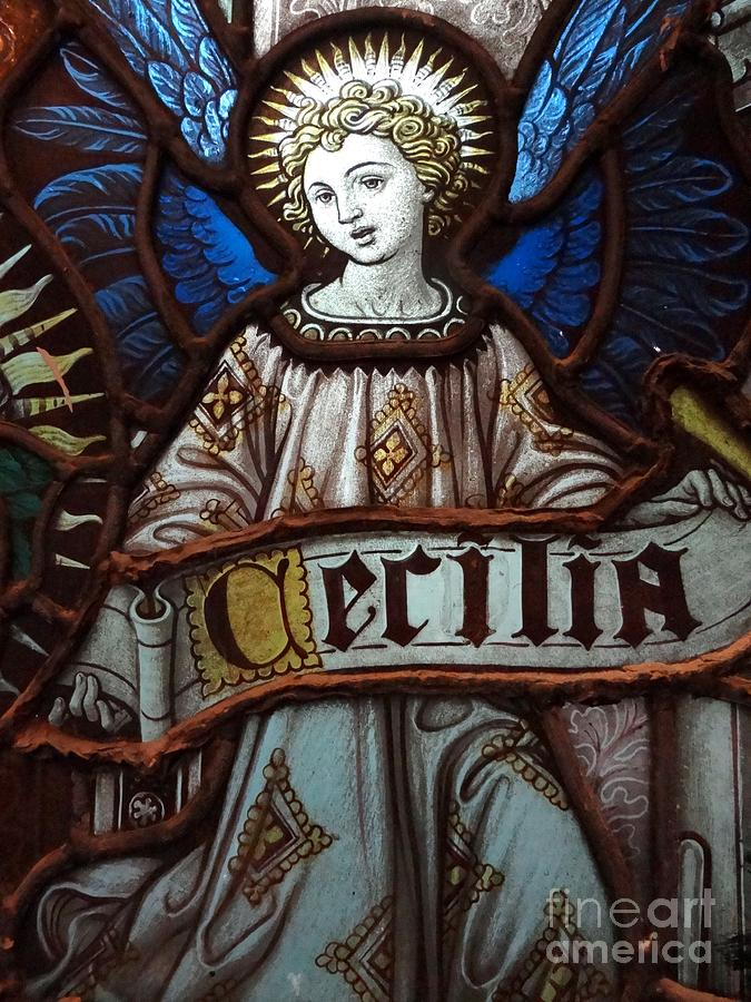 Stained Glass Photograph - Cecilia by Ed Weidman
