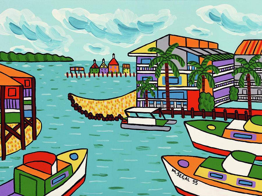 Cedar Key Painting - Cedar Cove Marina - Cedar Key by Mike Segal