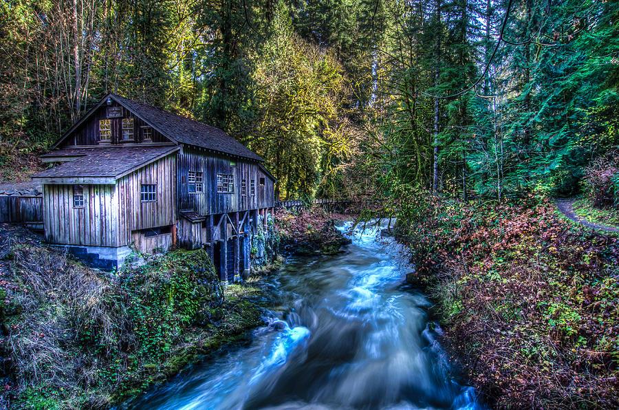Washington State Photograph - Cedar Creek Grist Mill by Puget  Exposure