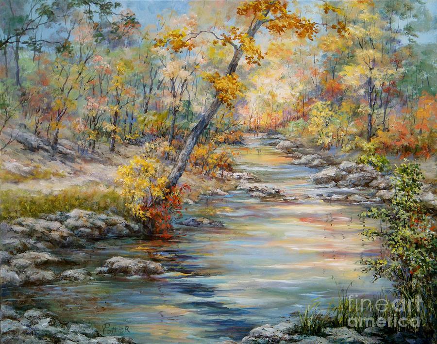 Landscape Painting - Cedar Creek Trail by Virginia Potter