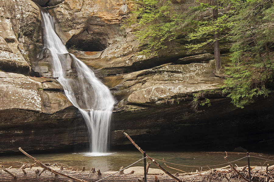 Waterfall Photograph - Cedar Falls 4 by Ginger Harris