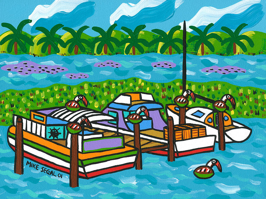 Cedar Key Painting - Cedar Key Bayou by Mike Segal