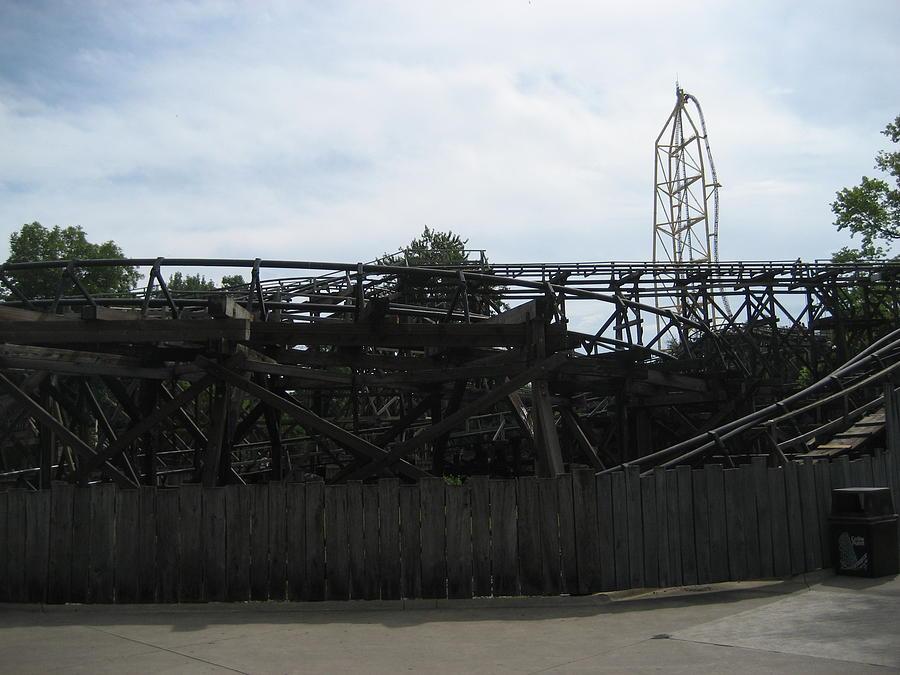 Cedar Photograph - Cedar Point - Cedar Creek Mine Ride - 12121 by DC Photographer