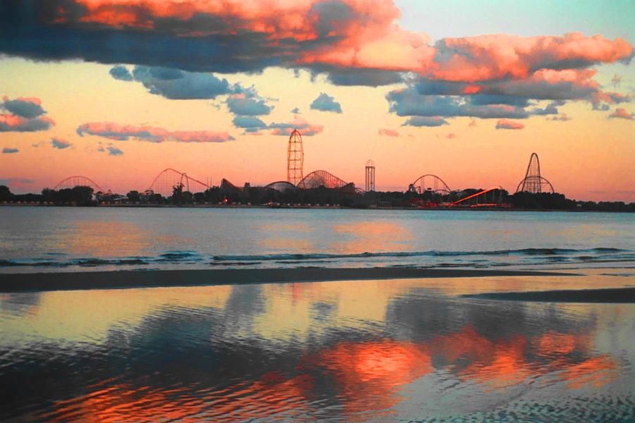 Cedar Point Photograph - Cedar Point by Sarah Kasper