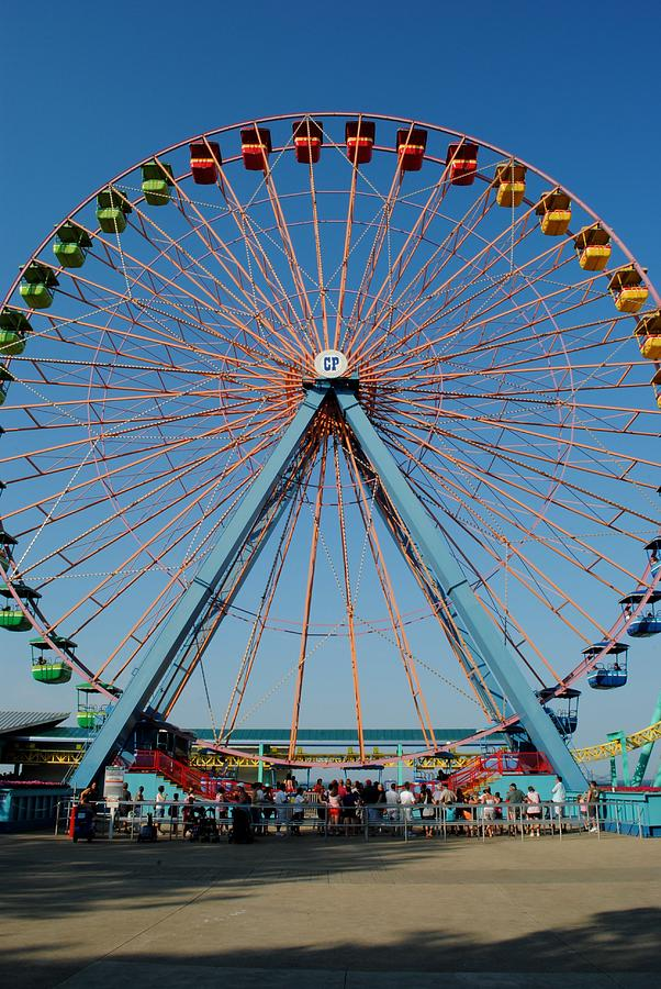 Ferris Photograph - Cedar Point Sunday by Frozen in Time Fine Art Photography