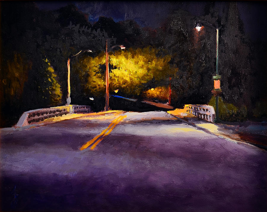 Nocturne Painting - Cedarburg Nocturne No.1 by Anthony Sell