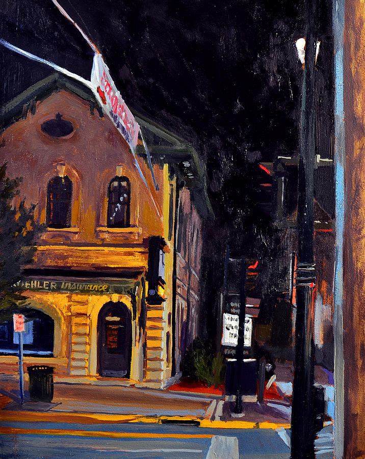 Cedarburg Painting - Cedarburg Nocturne No.2 by Anthony Sell