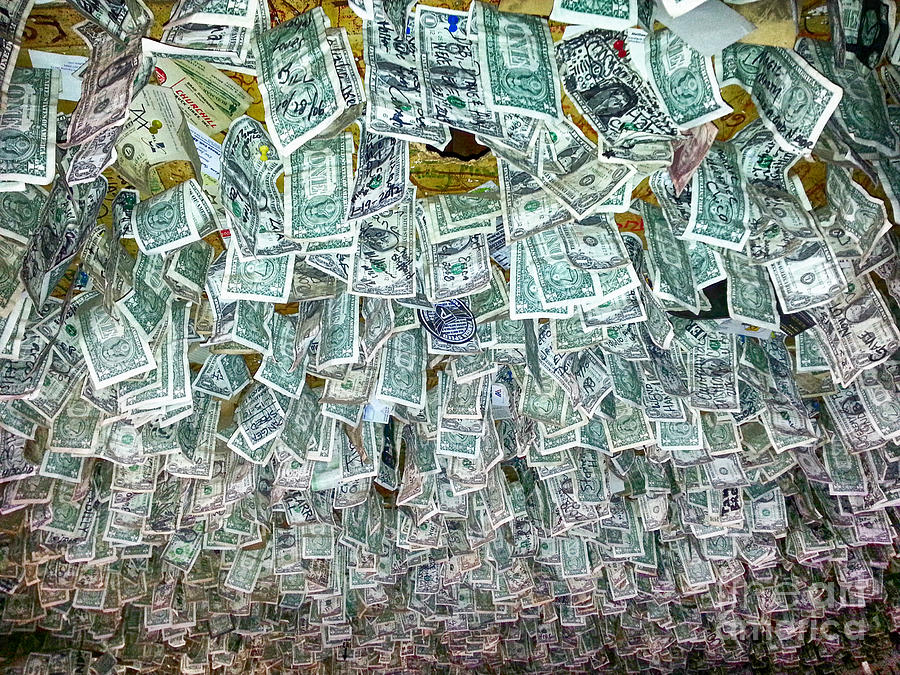 Dollar Bills Photograph - Ceiling Of Dollar Bills  by James BO  Insogna