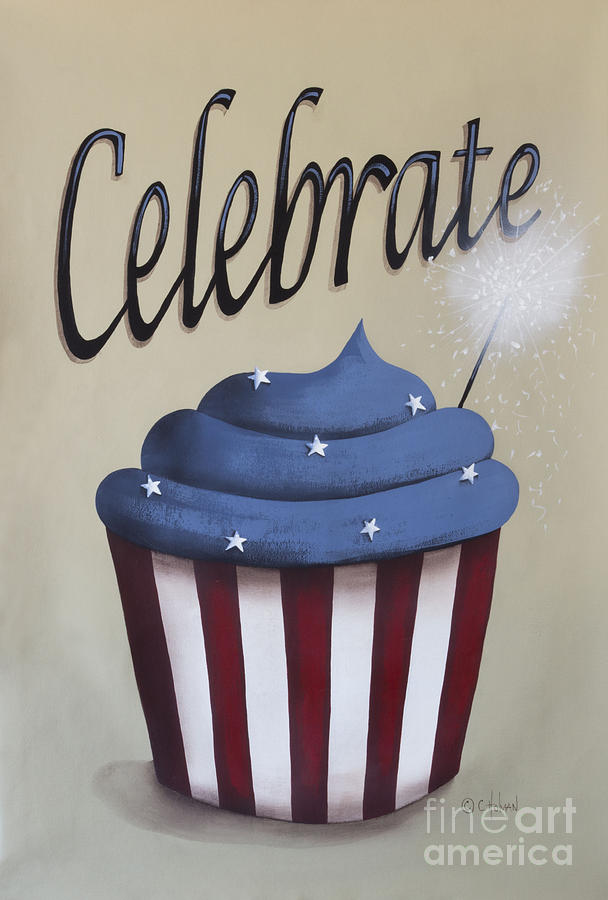 Print Painting - Celebrate The 4th Of July by Catherine Holman