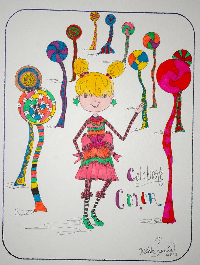 Color Drawing - Celebrating Color by Mary Kay De Jesus