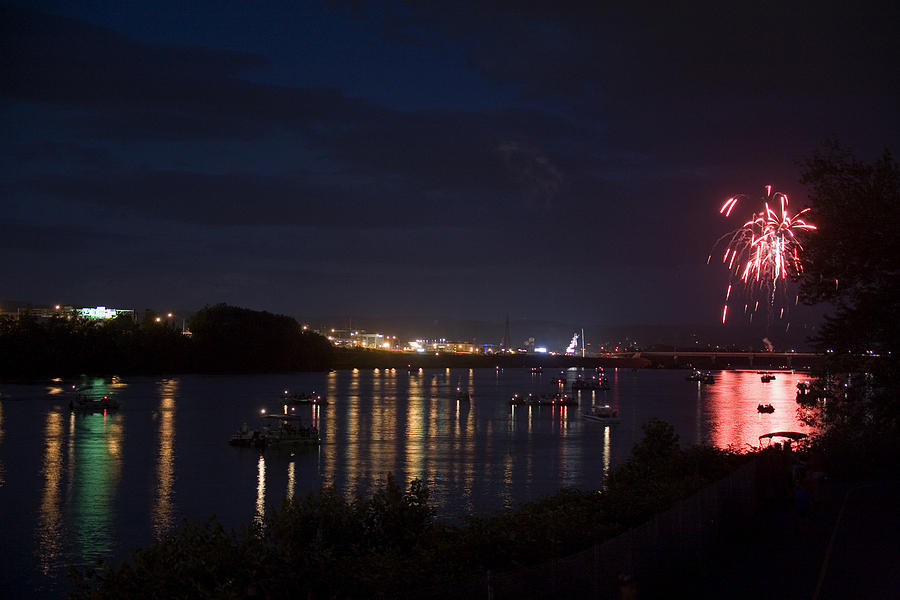 Boats Photograph - Celebrating Independence Day On The Susquehanna by Gene Walls