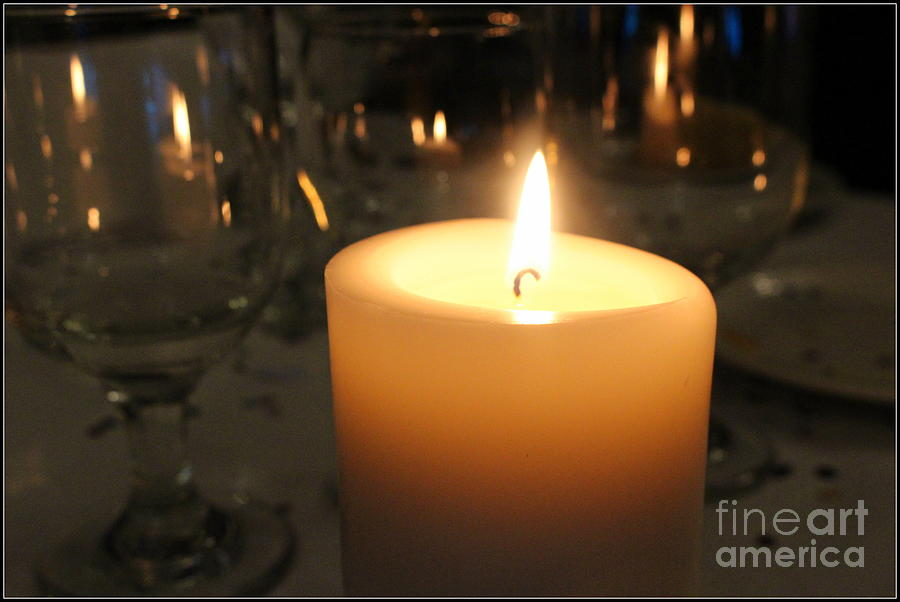 Candle Photograph - Celebration by Dora Sofia Caputo Photographic Design and Fine Art