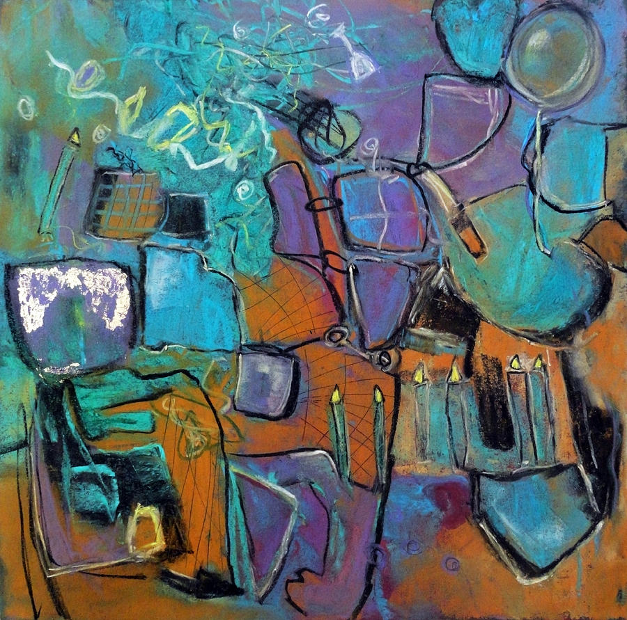 Katie Black Painting - Celebration by Katie Black