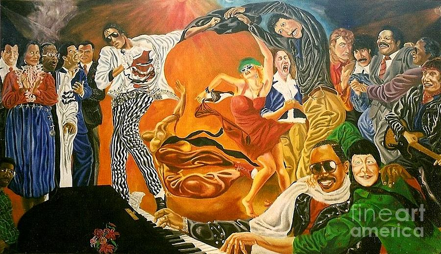 Celebration Of A King S Dream  Ebony And Ivory Painting by David G Wilson
