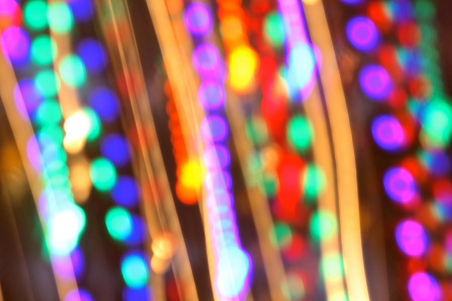 Abstract Photograph - Celebration by Penny Meyers