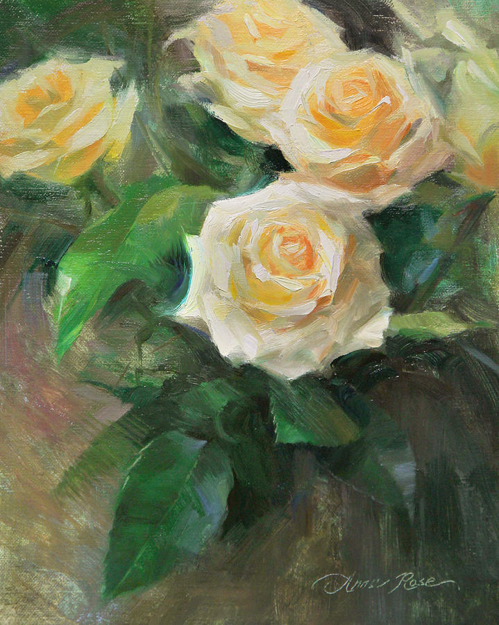 Celebration Roses Painting By Anna Rose Bain