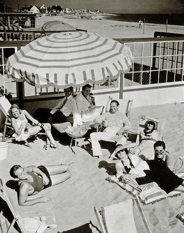 Celebrities On A Beach Photograph by Edward Steichen