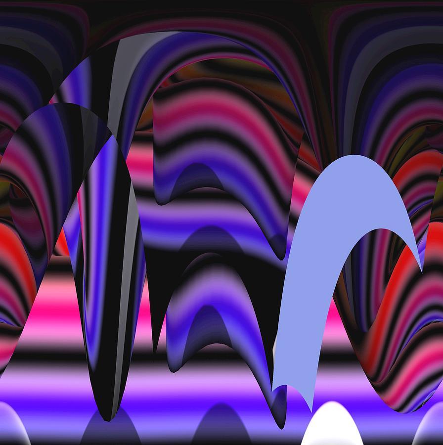 Abstract Digital Art Painting - Celestial Cave Digital Art by Georgeta  Blanaru