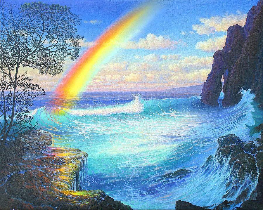 Original Painting - Celestial Cove Breakers by Loren Adams