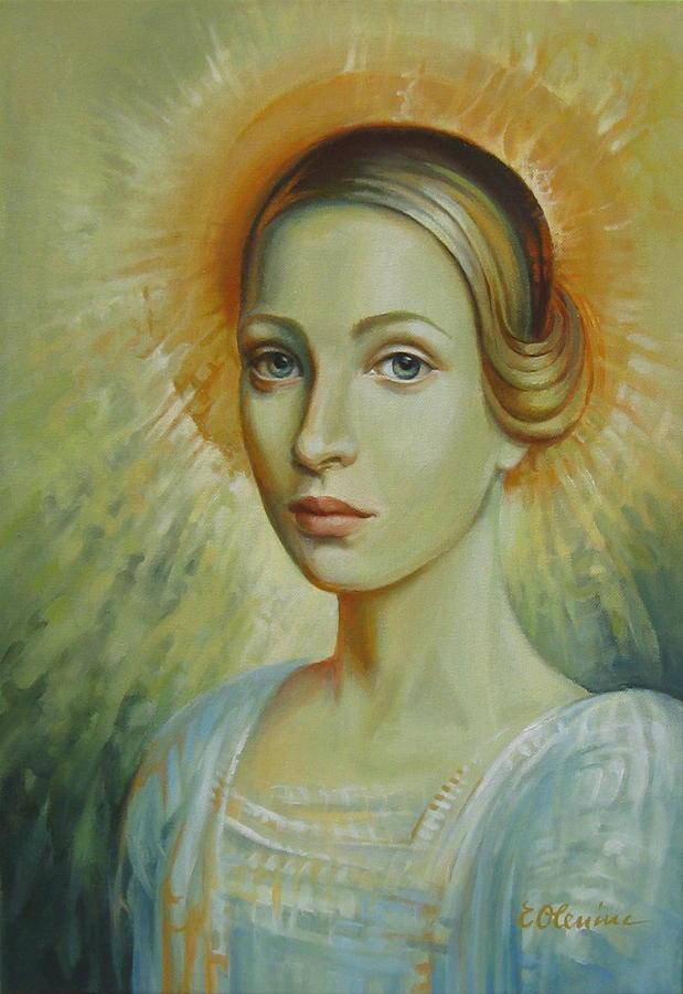 Portrait Painting - Celestial by Elena Oleniuc