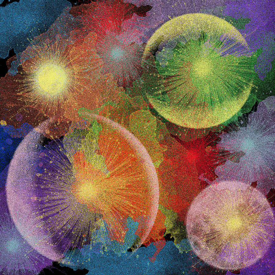 Celestial Fireworks Digital Art