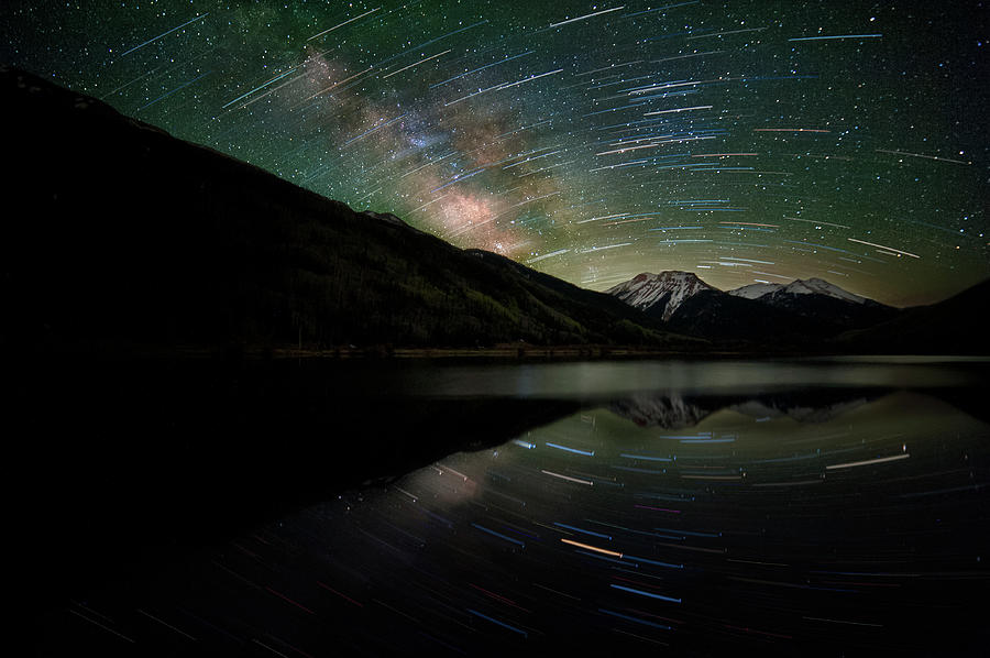 Celestial Rotation In The Colorado San Photograph by Mike Berenson / Colorado Captures