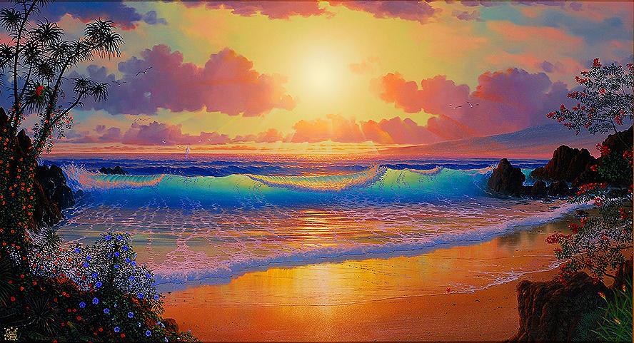 Original Painting - Celestial Shores by Loren Adams
