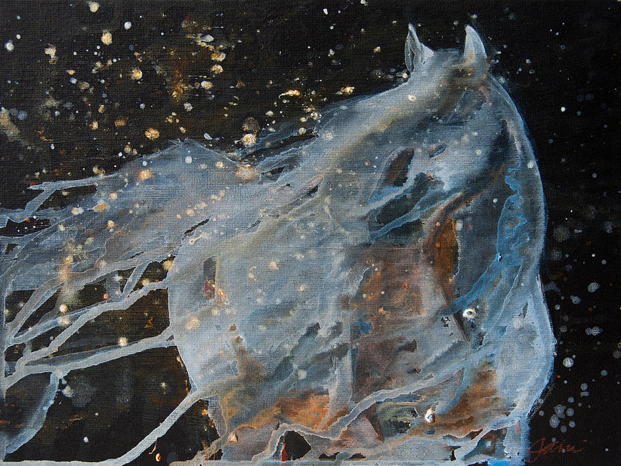 Horse Painting - Celestial Stallion  by Jani Freimann