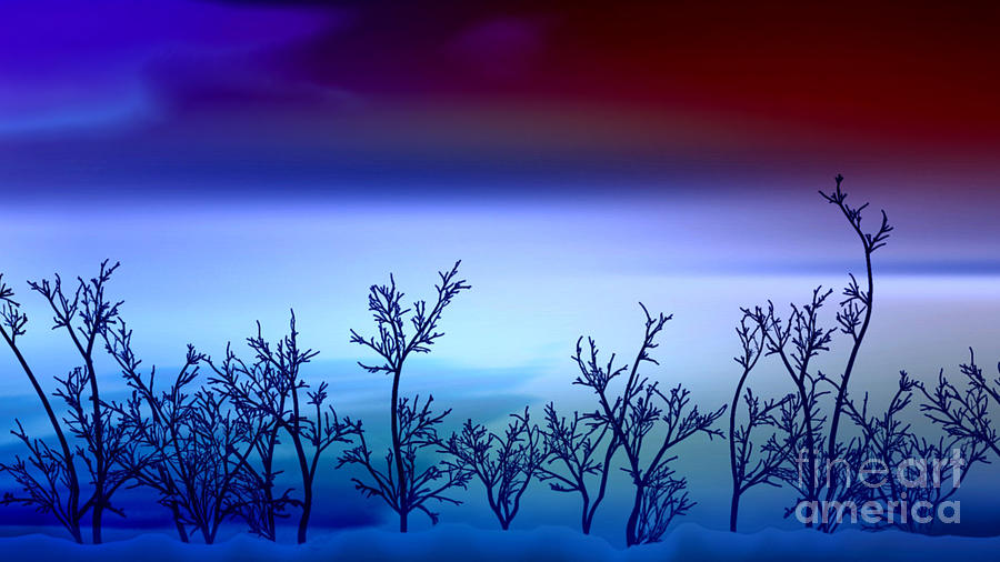 Abstract Digital Art - Celestial Stem by Peter R Nicholls