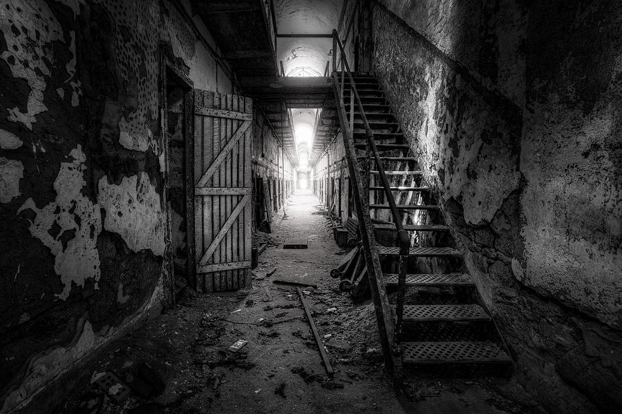 Historic Photograph - Cell Block - Historic Ruins - Penitentiary - Gary Heller by Gary Heller