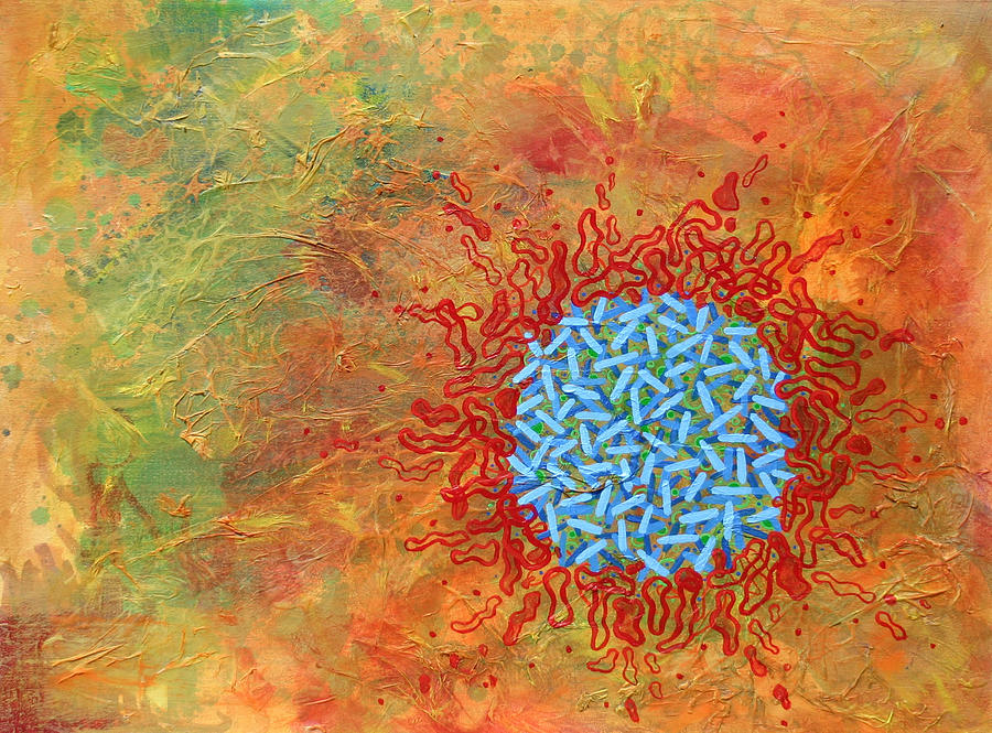 Abstract Painting - Cell No.1 by Angela Canada-Hopkins