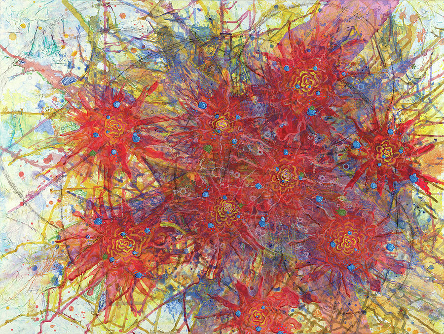 Abstract Painting - Cell No.11 by Angela Canada-Hopkins