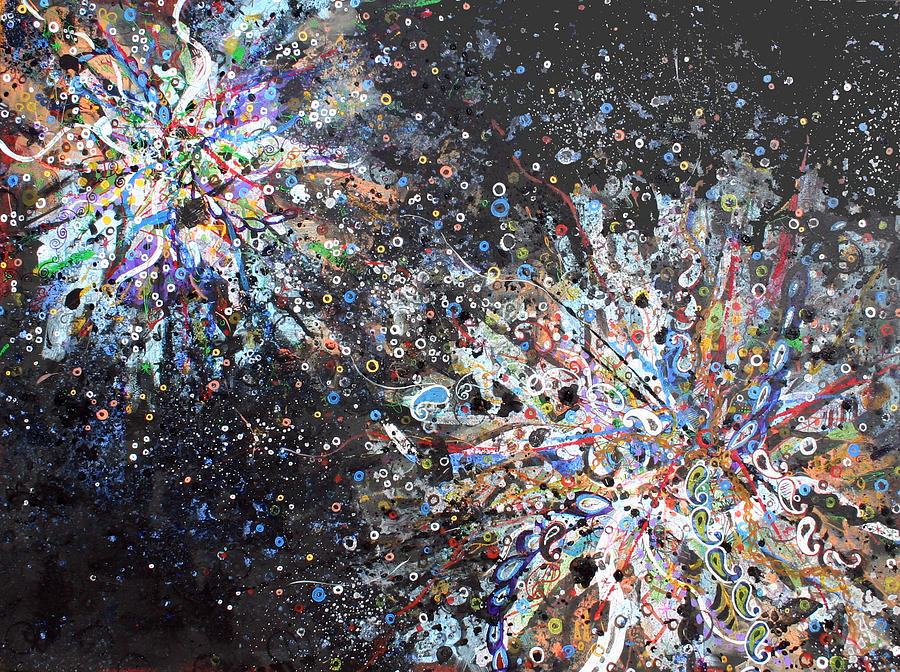 Contemporary Painting - Cell No.7 by Angela Canada-Hopkins