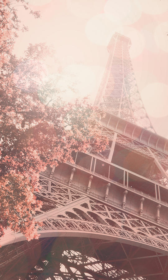 Landscape Photograph - Cell Phone Case Pink Eiffel Tower  by Janelle Yeager