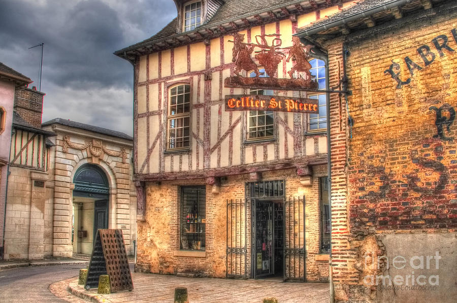 Troyes Photograph - Cellier St. Pierre Troyes France by Malu Couttolenc