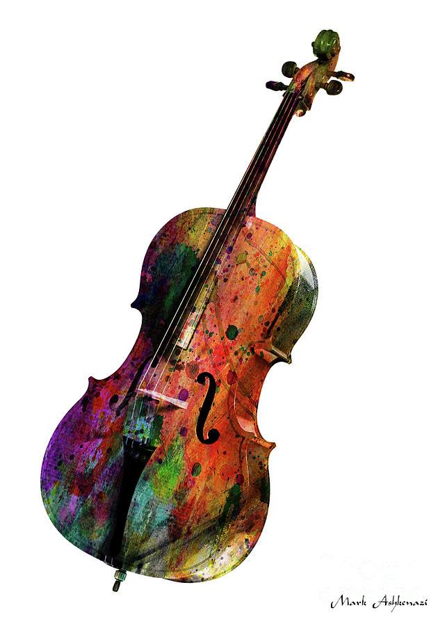 Cello Painting - Violin 1 by Mark Ashkenazi