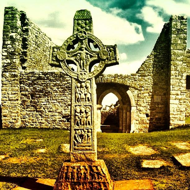 Irish Photograph - Celtic Cross - Ireland by Luisa Azzolini